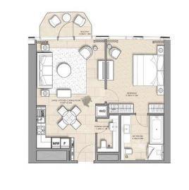address harbour point apartment 1bhk 706sqft471