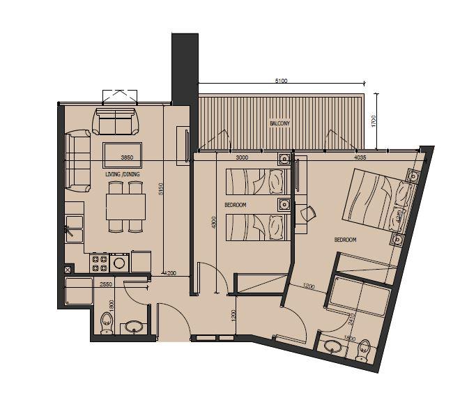 alexis tower apartment 2bhk 820sqft21