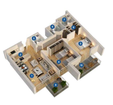 azizi aura apartment 2bhk 1130sqft71