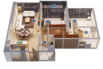 azizi phase 2 apartment 2bhk 1750sqft31