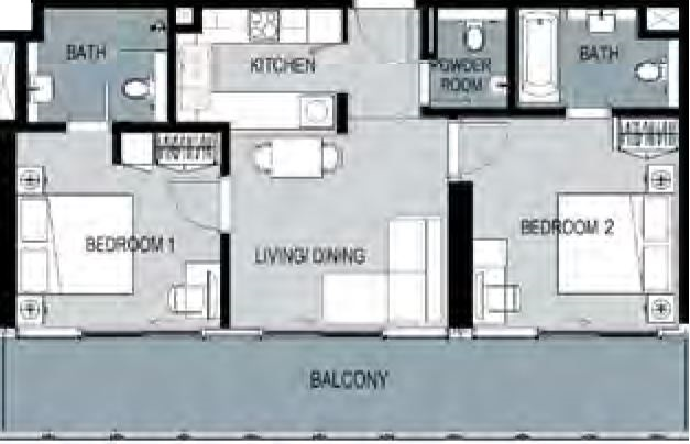 damac merano apartment 2bhk 983sqft51