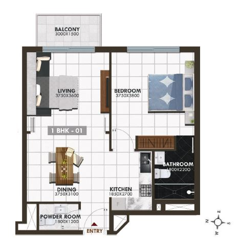 danube elz residence apartment 1bhk 693sqft91