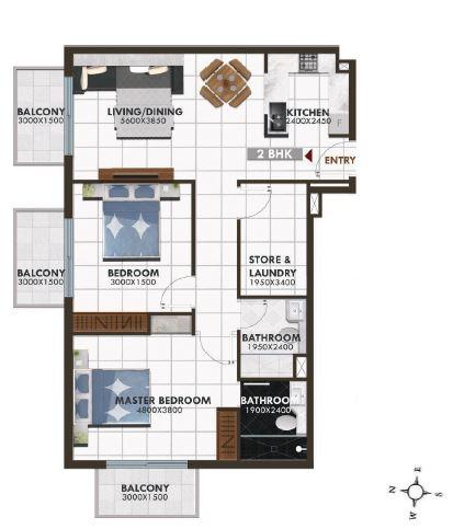 danube elz residence apartment 2bhk 1145sqft91