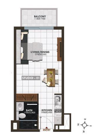 danube elz residence studio 390sqft91