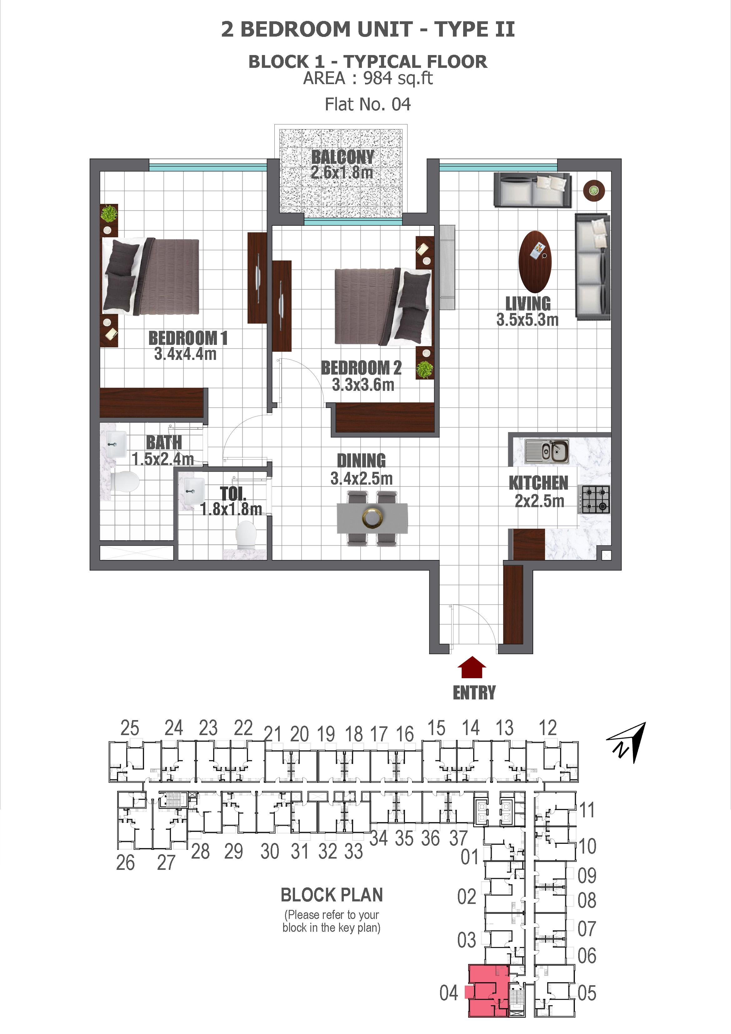 danube lawnz apartment 2bhk 984sqft91