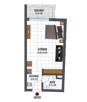 danube wavez studio 408sqft11