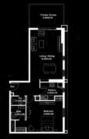 deyaar midtown apartment 2bhk 969sqft341