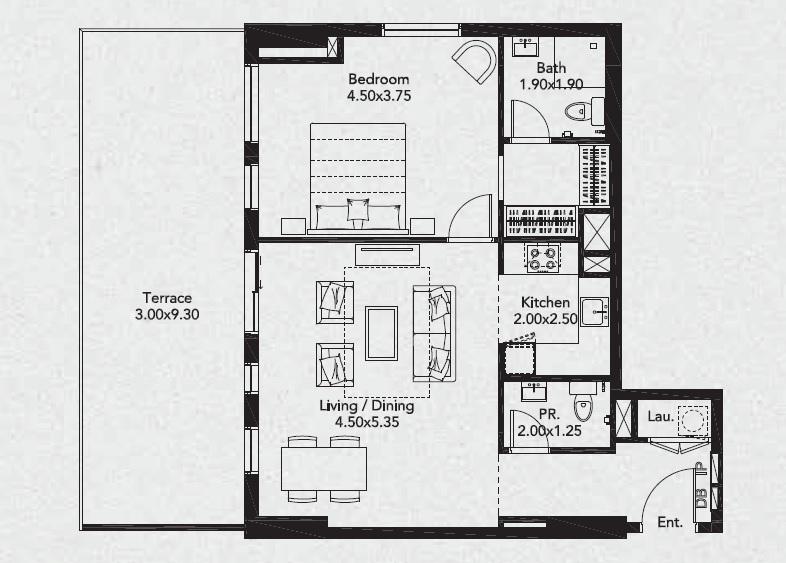 deyaar midtown noor apartment 1 bhk 1048sqft 20202804162835