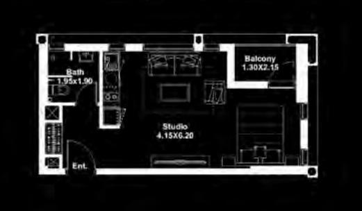 deyaar midtown studio 431sqft341