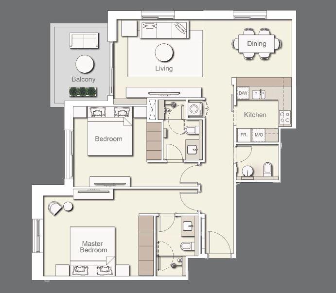 ellington wilton terraces apartment 2bhk 1197sqft41