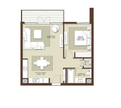emaar acacia apartment 1bhk 794sqft531