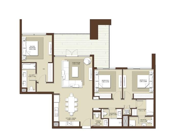 emaar acacia apartment 2bhk 1667sqft531