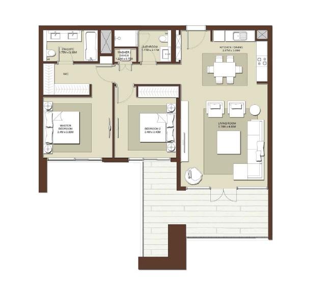 emaar acacia apartment 3bhk 1402sqft531