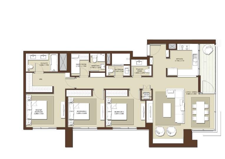 emaar acacia apartment 3bhk 1551sqft531