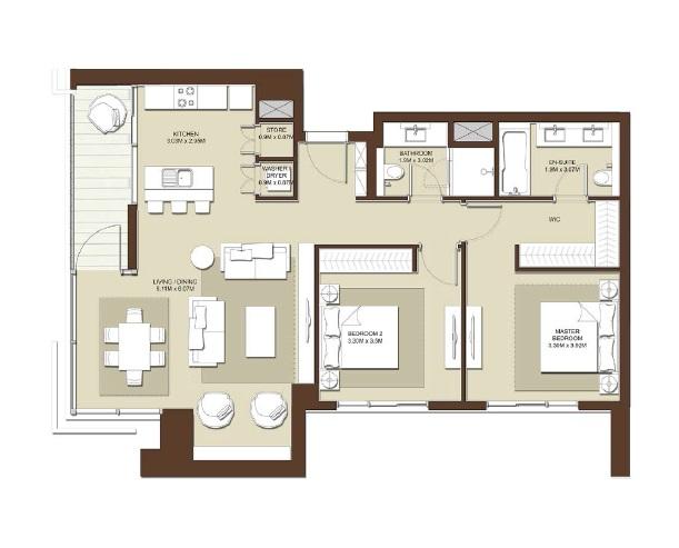 emaar acacia apartment 3bhk 1583sqft531