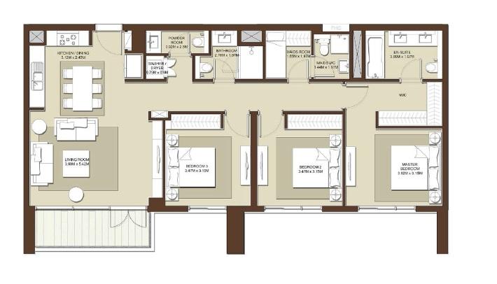 emaar acacia apartment 3bhk 1600sqft531