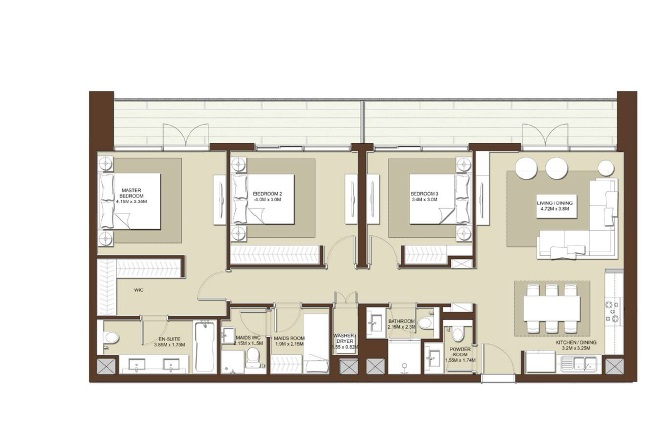 emaar acacia apartment 3bhk 1614sqft531