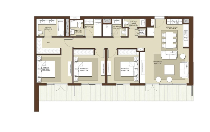 emaar acacia apartment 3bhk 1622sqft531