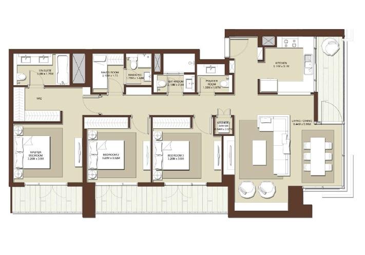 emaar acacia apartment 3bhk 1765sqft531