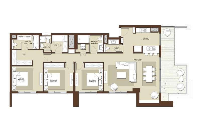 emaar acacia apartment 3bhk 1807sqft531