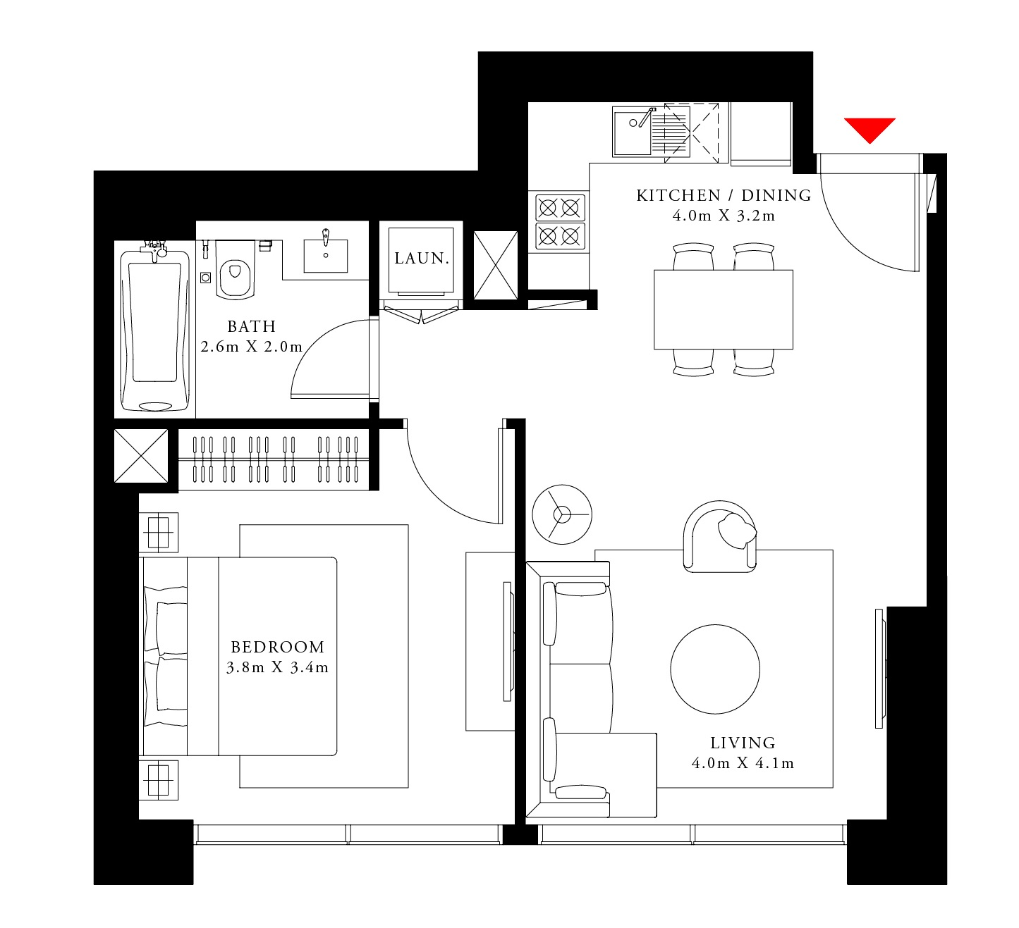 emaar act one act two apartment 1 bhk 611sqft 20210801150813