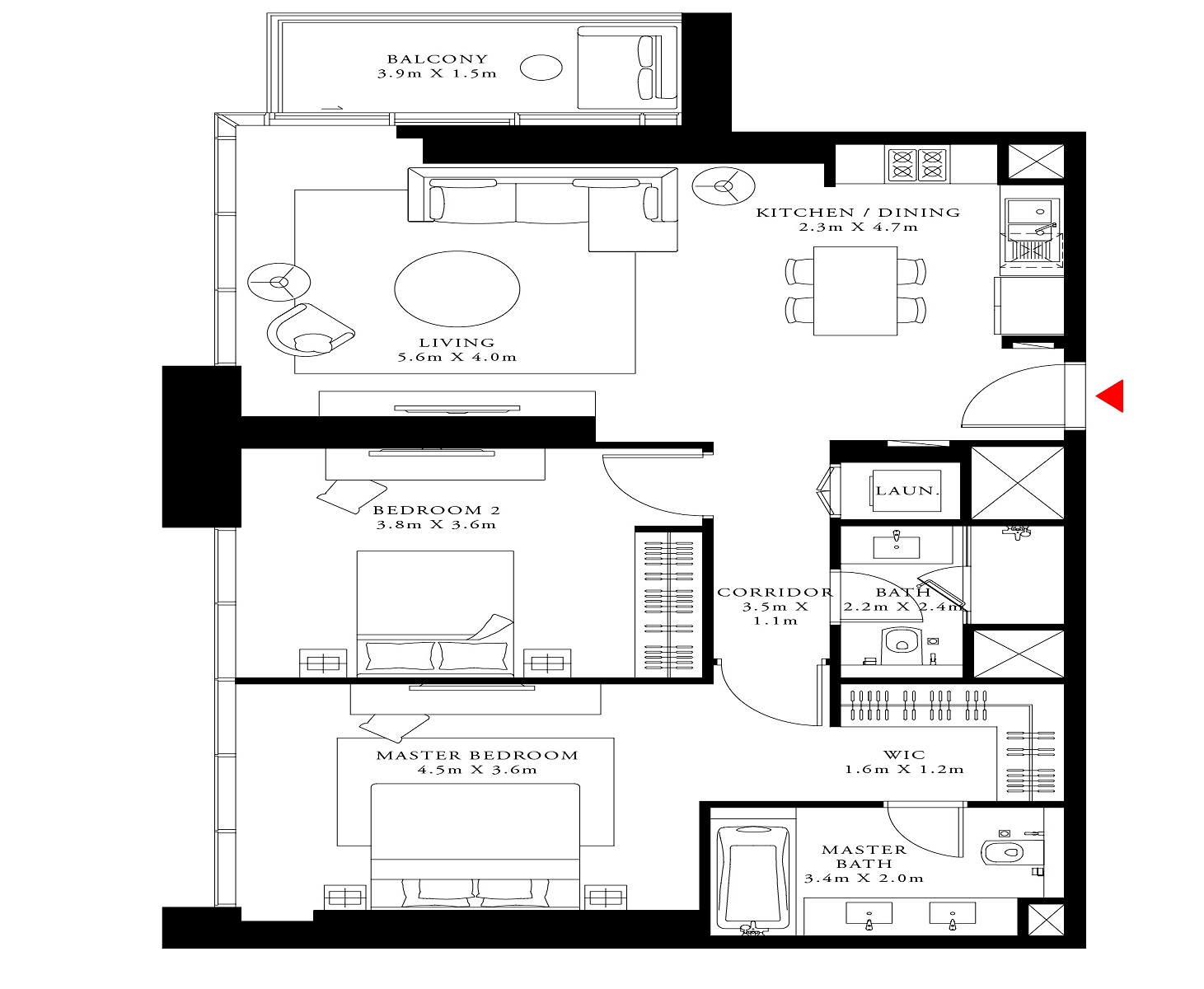 emaar act one act two apartment 2 bhk 1161sqft 20210801150837