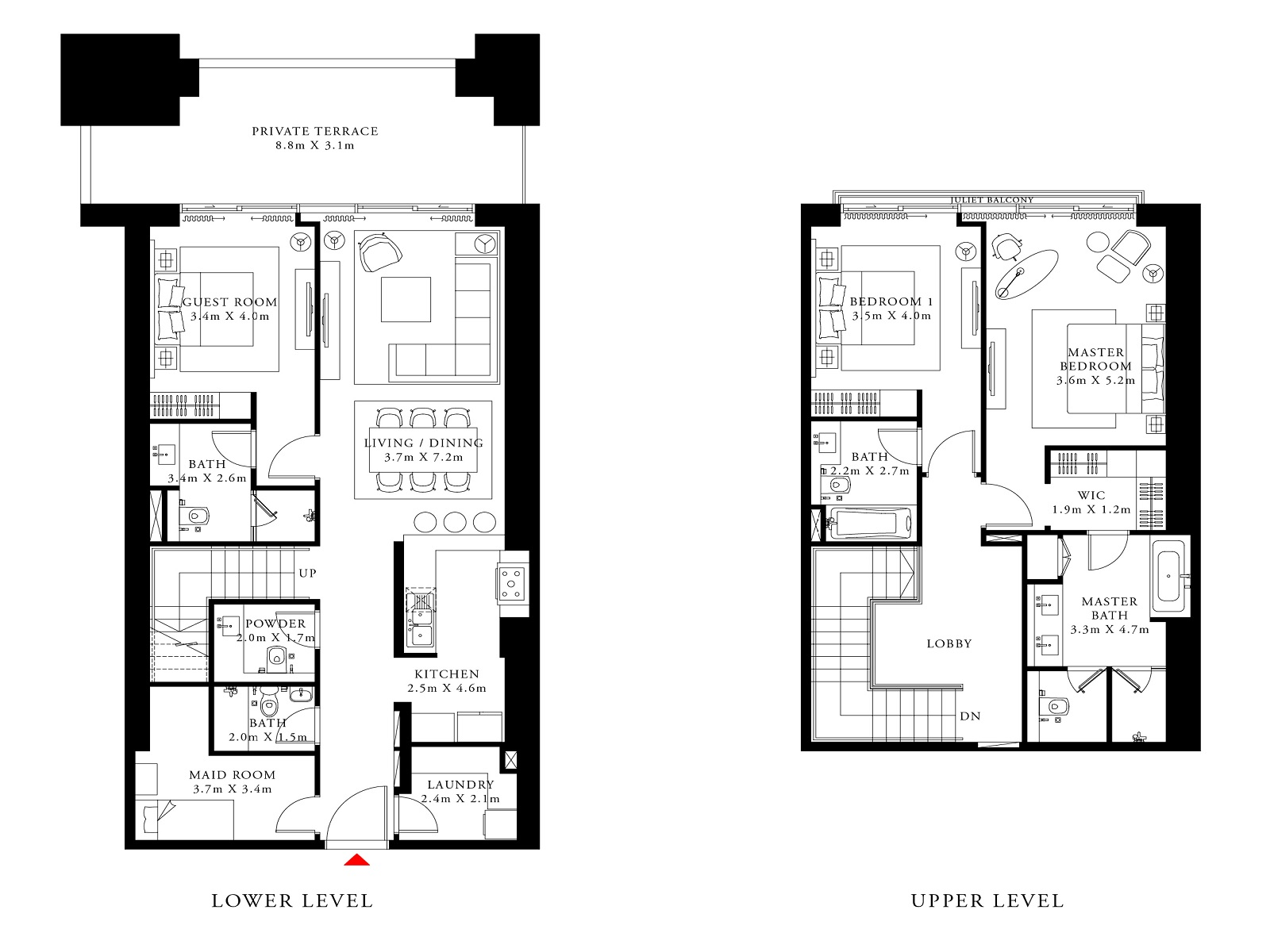 emaar act one act two apartment 3 bhk 2430sqft 20211001151007