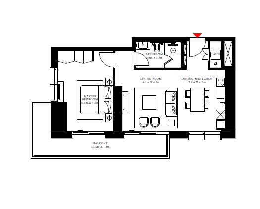 emaar beach isle apartment 1bhk 865sqft71