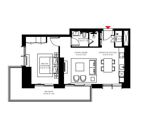 emaar beach isle apartment 1bhk 894sqft81