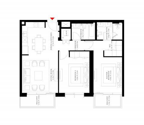 emaar beach isle apartment 2 bhk 1106sqft 20200318200319