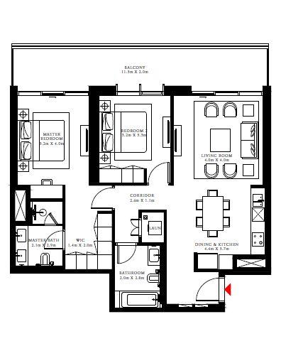 emaar beach isle apartment 2bhk 1313sqft81