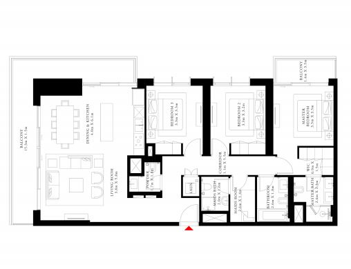 emaar beach isle apartment 3 bhk 1871sqft 20200118200154