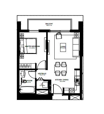 emaar burj crown apartment 1bhk 637sqft61