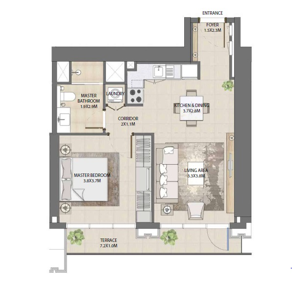 emaar burj royale apartment 1bhk 636sqft61