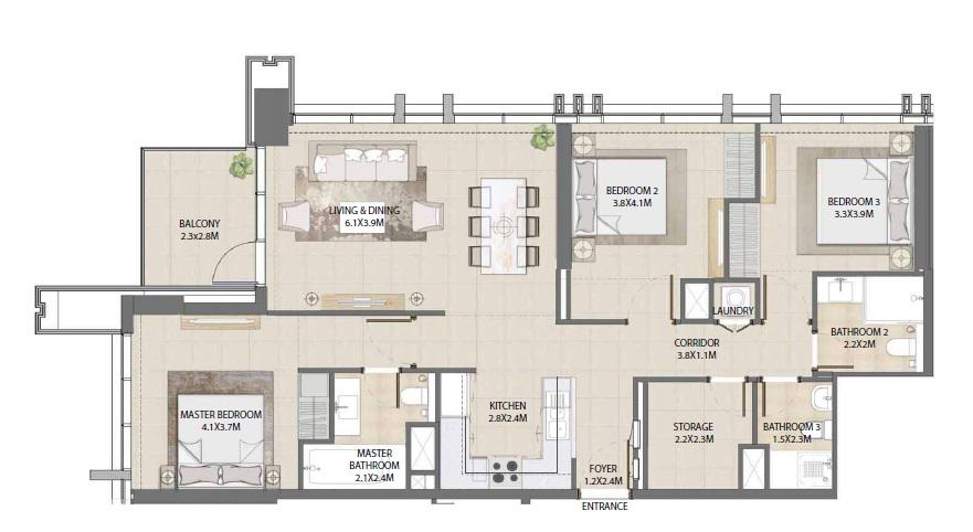 emaar burj royale apartment 3bhk 1311sqft281