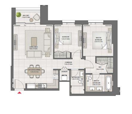 emaar creek edge apartment 2bhk 1051sqft131