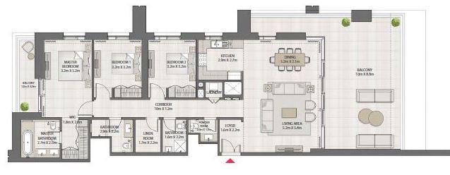 emaar creek edge apartment 3 bhk 1554sqft 20200618180600