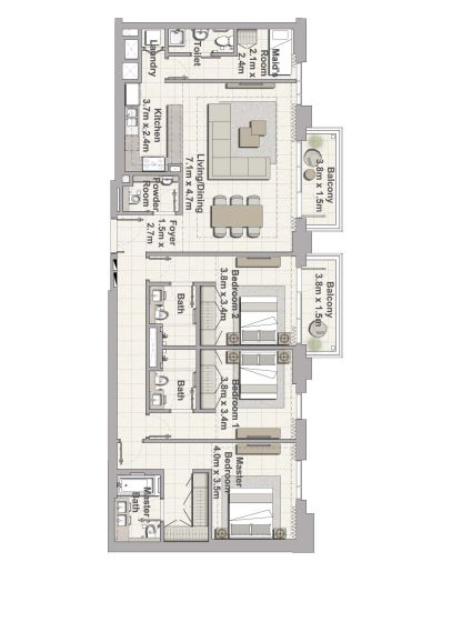 emaar creek horizon apartment 3 bhk 1933sqft 20200117120146