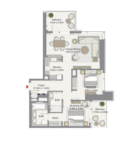 emaar creek rise  apartment 2 bhk 1246sqft 20200918120911