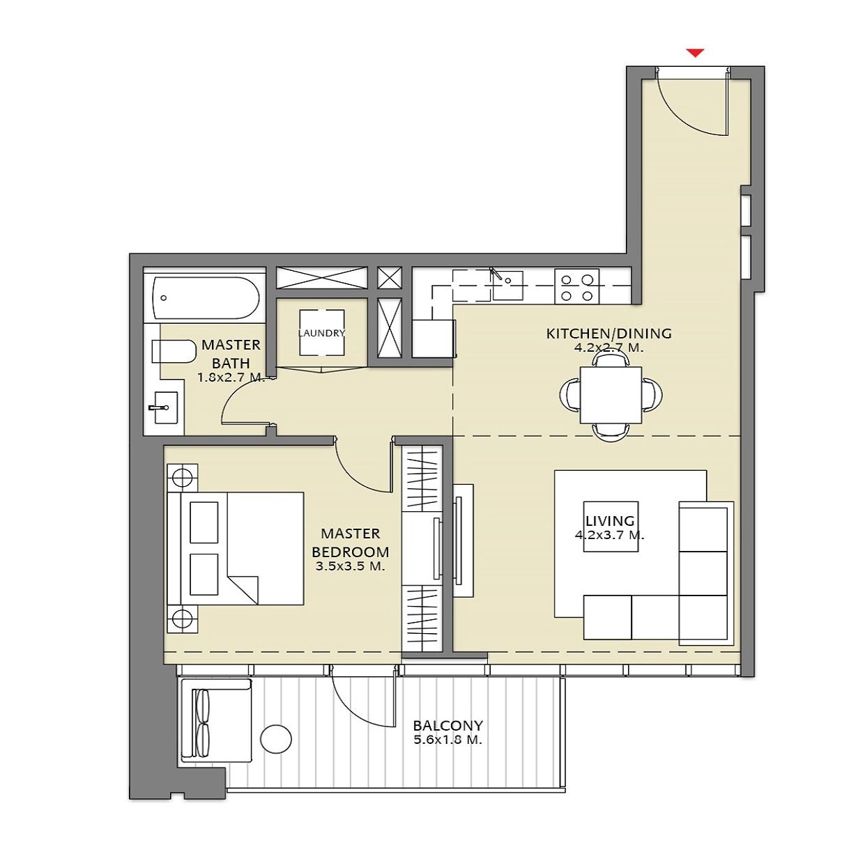 emaar downtown views 2 apartment 1 bhk 806sqft 20212701122746