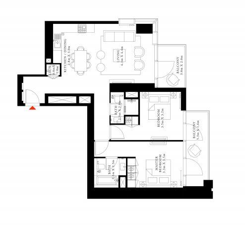 emaar downtown views 2 apartment 2 bhk 1150sqft 20201918151902