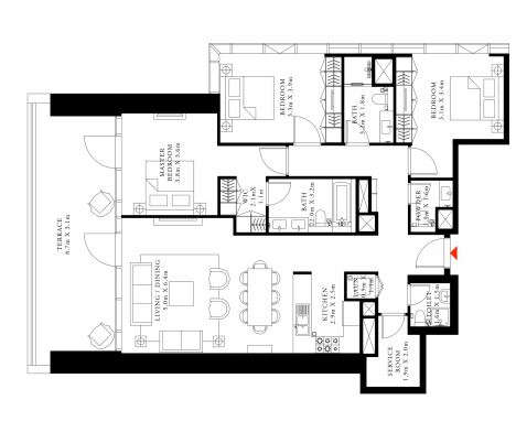 emaar downtown views 2 apartment 3 bhk 1935sqft 20202418152411