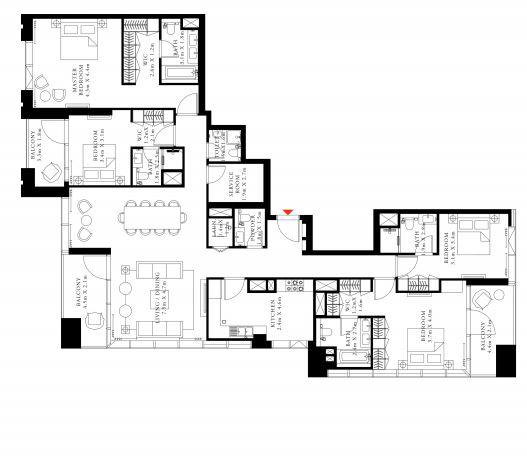 emaar downtown views 2 apartment 4 bhk 2493sqft 20202618152611