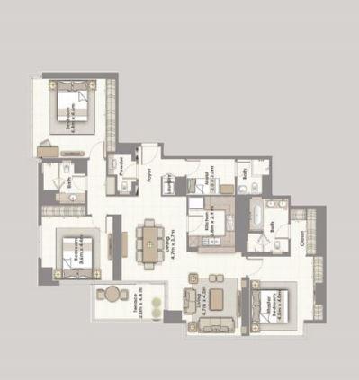 emaar dubai creek residences apartment 3 bhk 1896sqft 20203618123654
