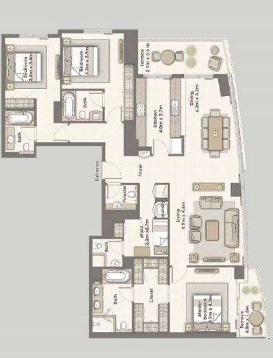 emaar dubai creek residences apartment 3 bhk 2154sqft 20203718123732