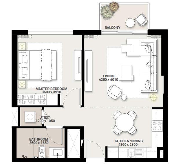 emaar executive residences 2 apartment 1bhk 879sqft91