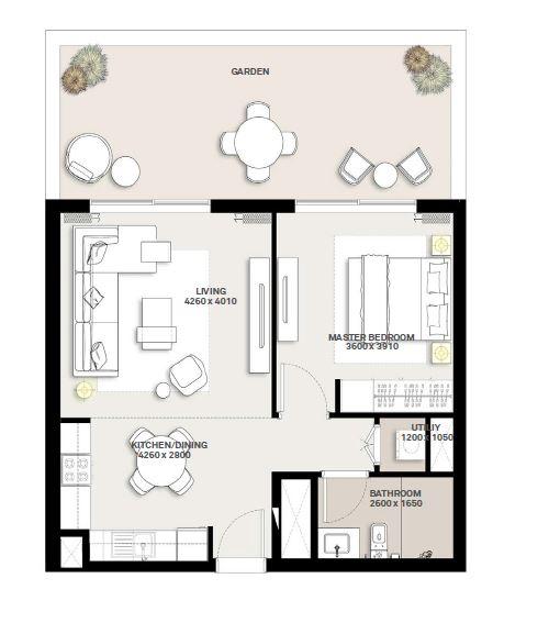 emaar executive residences 2 apartment 1bhk 893sqft101