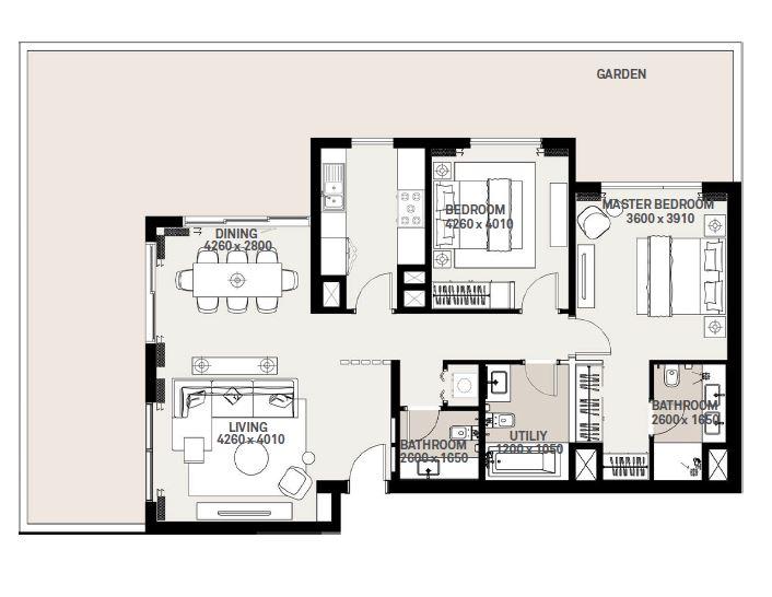 emaar executive residences 2 apartment 2bhk 1938sqft301