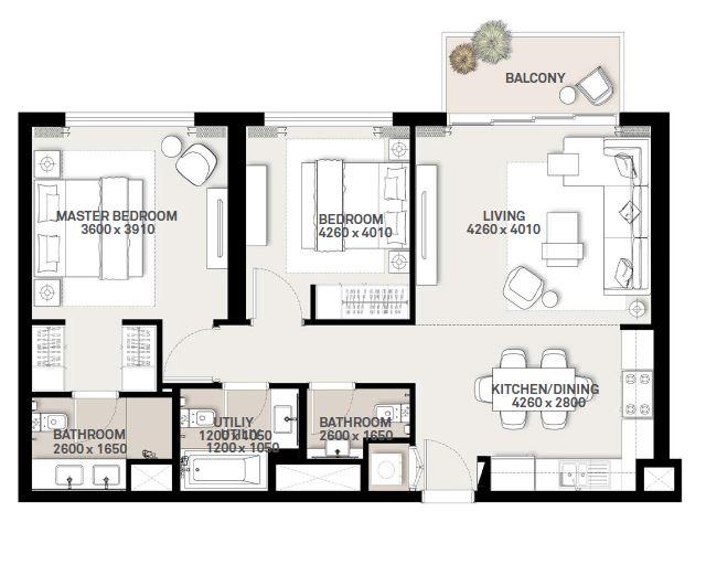 emaar executive residences 2 apartment 2bhk 998sqft121