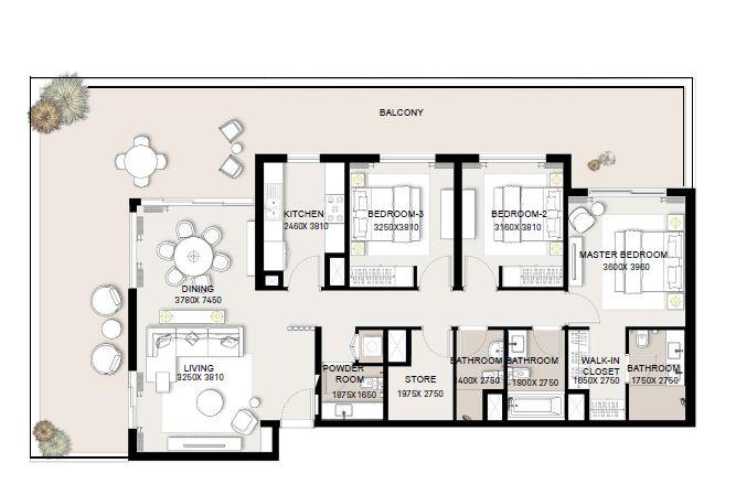 emaar executive residences 2 apartment 3bhk 2236sqft341